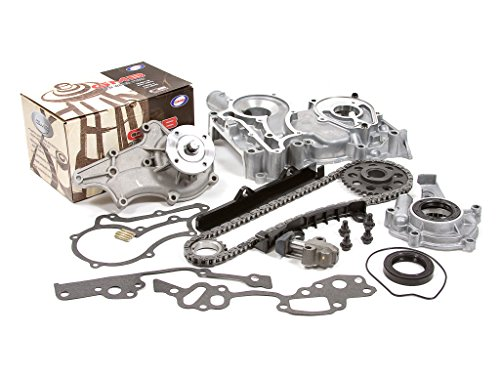 Evergreen TCK2006WOP Fits 83-84 Toyota 2.4 SOHC 8V 22R Timing Chain Kit w/Timing Cover Oil Pump GMB Water Pump ()