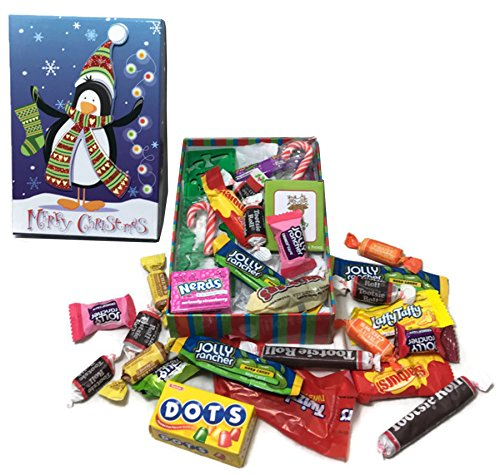 Happy Holidays ~ Fun Christmas Themed Gift Boxes ~ Filled with Fun Favors and Assorted Treats (Large)