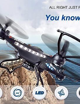 H & F @ JJRC H8 C 4 CH 6 Axis 2.4 G Negro Drones con cámara de 2.0 ...