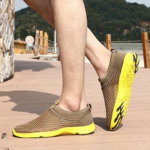 KRIMUS Damen Herren Wasser Schuhe Leichte Quick Dry Aqua Wanderschuhe Braun