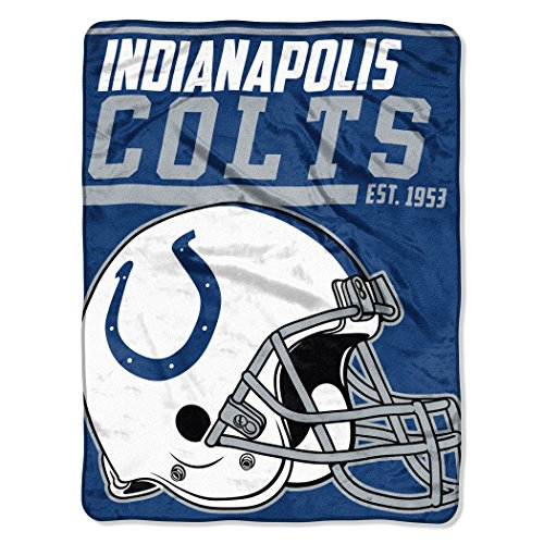 - NFL Indianapolis Colts 40 Yard Dash Micro Raschel Throw, 46