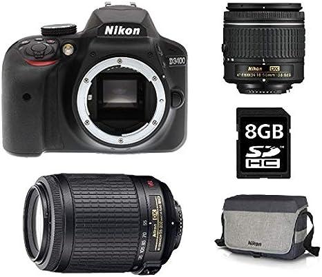 Nikon D3400 Cámara réflex Digital 24.2 Mpix AF-P DX 18 – 55 VR ...