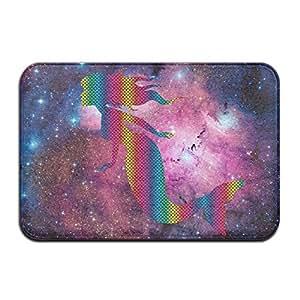Arco iris Neon de sirena Felpudo antideslizante alfombra puerta interior Outerdoor baño 23,6x 15,7pulgadas
