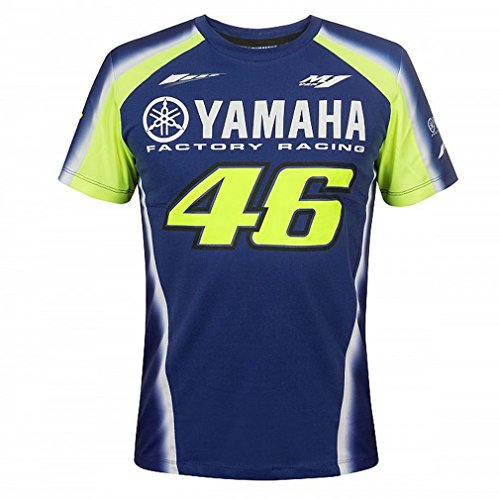 Valentino Rossi VR46 Moto GP M1 Yamaha Factory Racing Team T-Shirt Official 2018