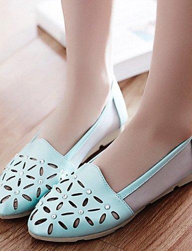 PDX/Damen Schuhe Kunstleder Flach Heel Comfort Wohnungen Kleid/Casual Blau/Pink/Weiß, - pink-us6 / eu36 / uk4 / cn36 - Größe: One Size