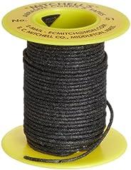 "Mitchell Abrasives - 51A-25 51 Round Abrasive Cord, Aluminum Oxide 120 Grit .055"" Diameter x 25"