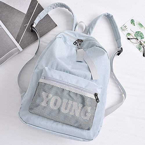 Amazon.com: DingXiong Women Letter Young Backpack Teenager Girls Nylon Casual School Bag Student Net Tide Mochila Escolar Waterproof Kanken: Garden & ...