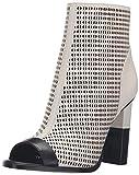Calvin Klein Women's Krizia Dress Sandal, Soft White/Black Leather, 5 M US