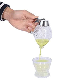200ML Dispensador de Miel, Acrílico Jarabe Miel Jugo Goteo Botella Envase Pote: Amazon.es: Hogar