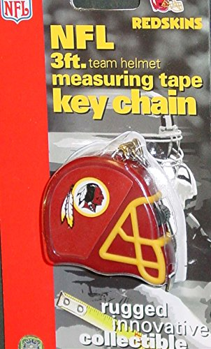 DuraPRO NFL Washington Redskins 3 Foot Measuring Tape Key Chain, NEW