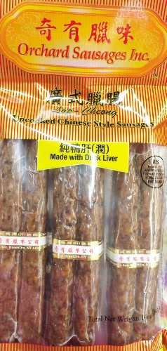 14oz Orchard Sausages Uncooked Chinese Style Sausages Made with Duck Liver (One Bag)