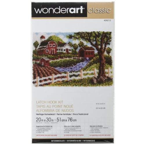 Wonderart Classic Heritage Homestead Latch Hook Kit, 20
