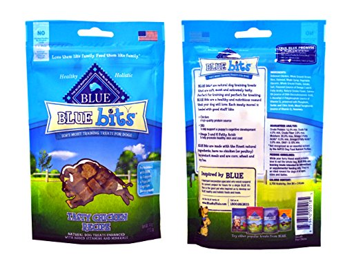 Blue-Buffalo-Treats-Blue-Bits-Dog-Treats-4-Flavors-Savory-Salmon-Tasty-Chicken-Tender-Beef-and-Tempting-Turkey-4-ounces-each-4-Total-Pouches