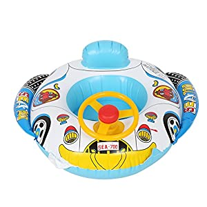 Zerodis Swimming Ring For Kids, Car-Shaped Inflatable Ride-ons PVC Pool Float For Kids