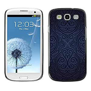 Qstar Arte & diseño plástico duro Fundas Cover Cubre Hard Case Cover para SAMSUNG Galaxy S3 III / i9300 / i747 ( Wallpaper Pattern Blue Black Random Art)
