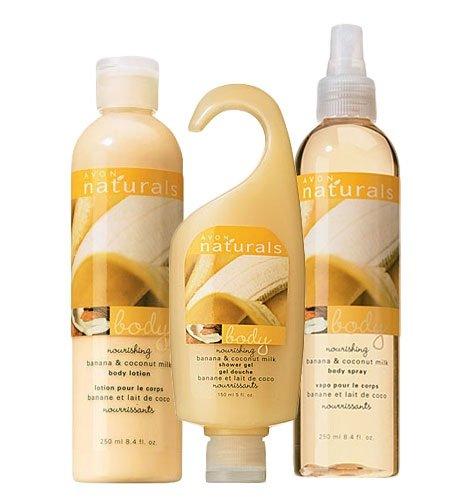 (Avon Naturals Banana & Coconut Milk Bath & Body Collection )
