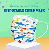 Islandse 20 PCS Kids Face Bandanas, Disposable Face 𝐌𝐀𝐒𝐊, Industrial3PlyEarLoop, Breathable, face Shield for Outdoor/Daily use,Customized Ocean Printing Series-Shark/Jellyfish/Fish