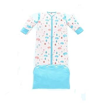 LLX Saco De Dormir Bebe Invierno Ropa para Dormir Y Batas,Algodón Peinado Seguro Y Comodo,Disponible En 2 Tallas(Azul/Rosa),Blue-L: Amazon.es: Hogar