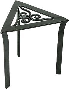 Achla Designs VTT-02 Triangular Trivet Wrought Iron Plant Stand, Graphite