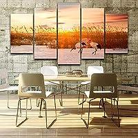 mmwin Decoración HD Impreso Cartel Sala de Estar 5 Panel River ...