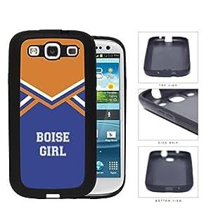 Boise City Girl School Spirit Cheerleading Uniform Samsung Galaxy S3 I9300 Rubber Silicone TPU Cell Phone Case