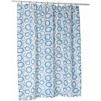 Amazon.com: Carnation Home Fashions Blue Circles Stall Printed ...