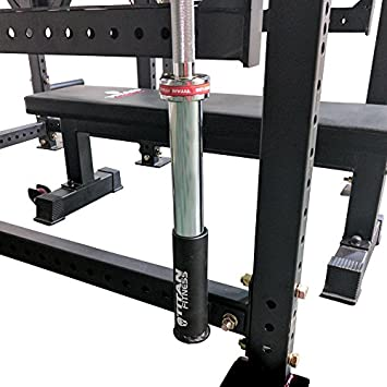Pair of Titan Horizontal Mount Olympic Barbell Holders for T-3 Power Rack