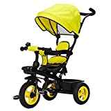 Detachable Rotating Seat Reclining Backrest Kids Children Trike Tricycle Wning Suitable for 6