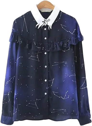 YUFAA Camisa con Estampado de Estrellas para Mujer Orejas de ...