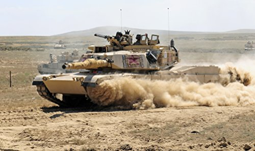 (Home Comforts Laminated Poster an M1A1 Abrams Main Battle Tank from The Minnesota National Guard Races Through a Breach in a Barbed Vivid Imagery Poster Print 24 x 36)