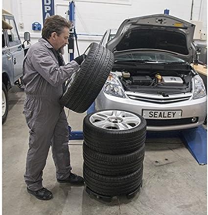 Sealey Str006 Reifenaufbewahrung Transportroller Schwarz Auto