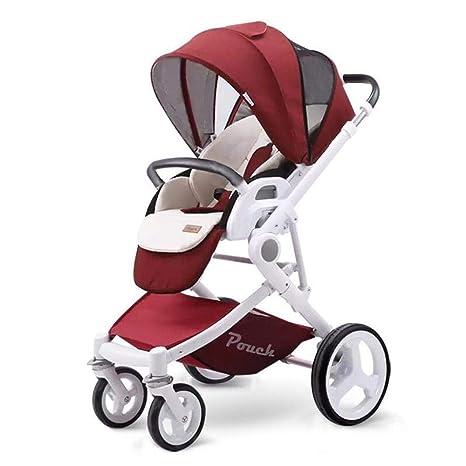 Olydmsky Carro Bebe,Plegable Ligero Carro de Silla de Paseo reclinable de Alta Vista Dos