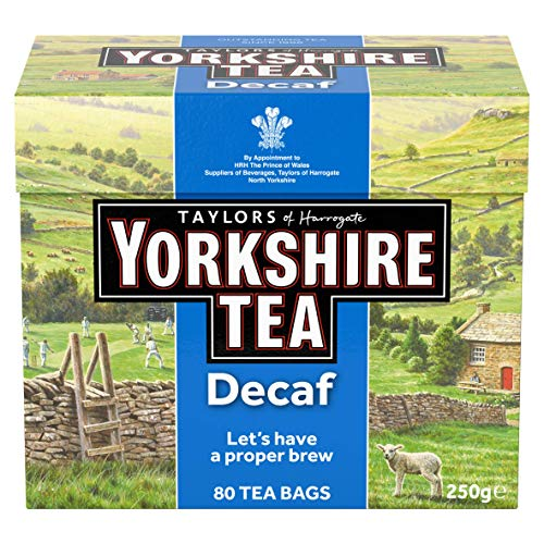 - Yorkshire Tea Decaffeinated Tea Bags 250 g (Pack of 5)
