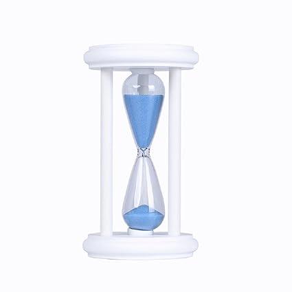 amazon com florawang white wood sand glass hourglass timer 10