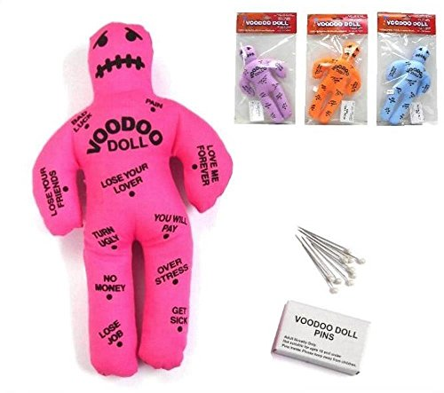 BUY 1 GET 1 FREE Purple Color Funny Novelty Magic Voodoo Doll with Stick -