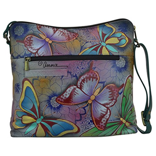 Handbag Anna Purse Top Hand Flap Leather by Purse Hobo Quality Holder Free Top Anuschka Painted Real Butterfly on Design Paradise rC7rtwqxn