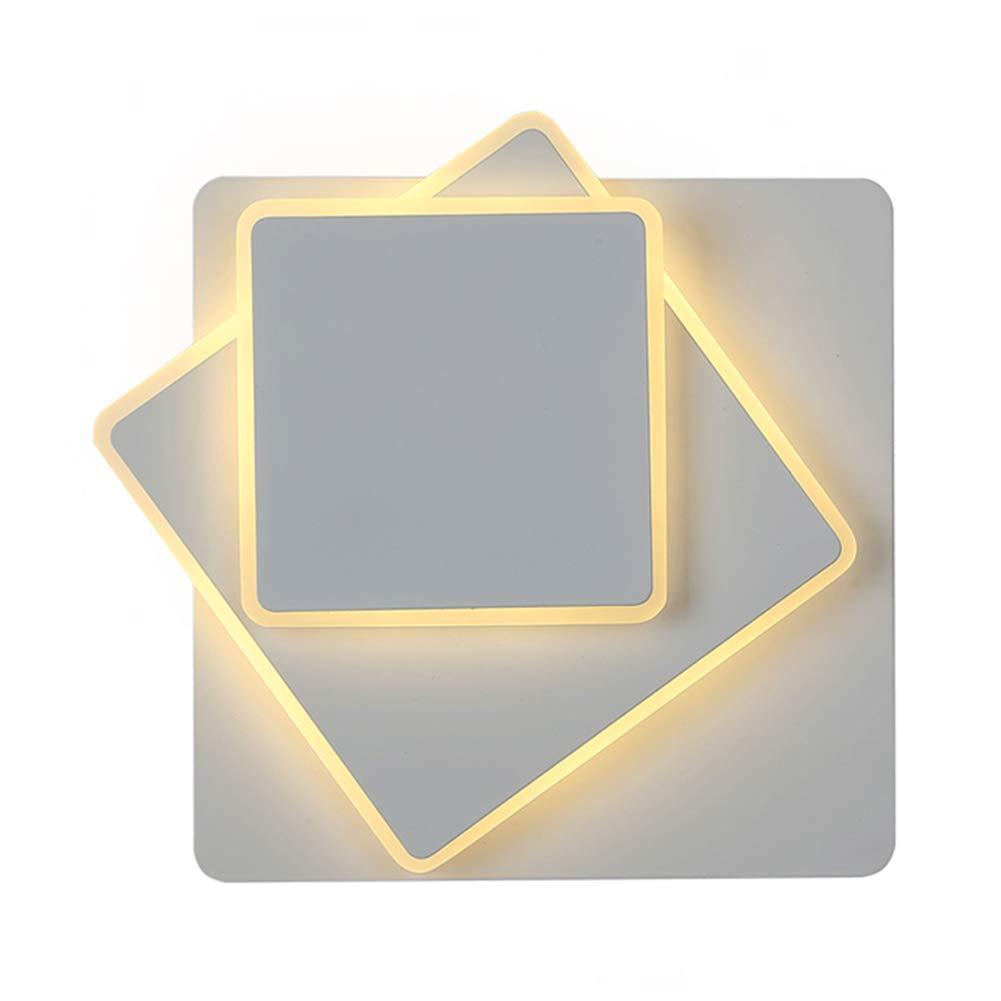 Wandleuchten Wandlampe Wandbeleuchtung Außenwandleuchten Drehen Sie Platz Wohnzimmer Restaurant Treppenlicht Nachttischlampe ZHAOYONGLI (Farbe   Weißdimming-20+16+12cm)