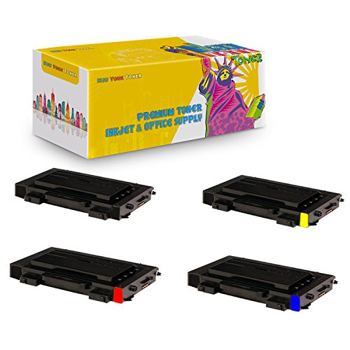 New York TonerTM New Compatible 4 Pack CLP-510D7K CLP-510D5C CLP-510D5Y CLP-510D5M High Yield Toner For Samsung - CLP-510N | CLP-510NG . -- Black Cyan Magenta Yellow ()