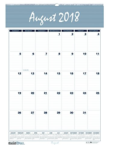 House of Doolittle 2018-2019 Monthly Wall Calendar, Academic, Bar Harbor, 12 x 17 inches, August - July (Vertical Weekly Calendar)