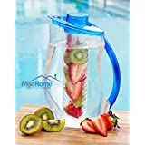Misc Home +New Design+ 3 L. Fruit Infuser Water Pitcher 101 Oz BPA Free Acrylic Easy to Use Fruit Infusion Water Pitcher Large Enough to Use to Fill Multiple Fruit Infused Water Bottles