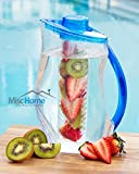 +New Design+ 3.2 Qt Fruit Infuser Water Pitcher 101 Oz BPA Free Acrylic