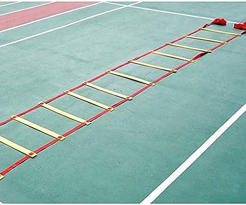 Xin Entrenamiento de la Agilidad Escalera, Escalera Velocidad Footwork Equipo for Deporte de Baloncesto de fútbol Ejercicio Una Buena Condición (Size : 10m 20 Rung): Amazon.es: Deportes y aire libre