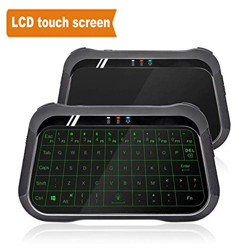 WeChip T18 Mini Backlight Keyboard Air Remote 2.4 GHz Wireless Mouse Handheld Touchpad Controller for TV Box Mini PC PK I8 h18 H20