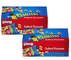 Planters Salted Peanuts, 24 count, pack ...