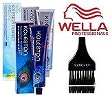 hair color developer 2 oz - Wella KOLESTON Perfect Permanent Creme Haircolor, 2 oz (with Sleek Tint Brush) (9/1 Very Light Blonde Ash)
