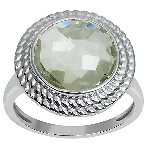 925 Sterling Silver Green Amethyst Women