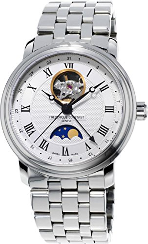 Frederique Constant Geneve Classics Moonphase FC-335MC4P6B2 Automatic Mens Watch Open Balance Spring