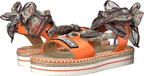 Moschino Women's Scarf Sandal Orange Sandal