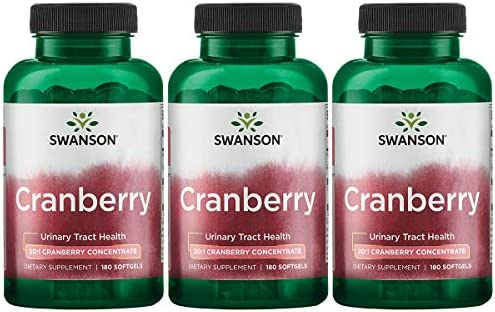Swanson Cranberry 20 1 Concentrate Urinary Tract Support 180 Sgels 3 Pack