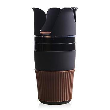 Amyove Soporte Multifuncional para Beber en el Coche Portavasos Giratorio para el Agua Porta Gafas de Sol Organizador del teléfono Accesorios de Coche Borde ...